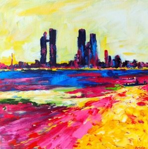 """Heat Wave"" 16x16 inches - acrylic on canvas SOLD"