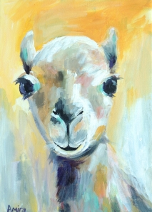 """""""Brown Baby Camel""""10x14 inches Acrylic on canvas"""