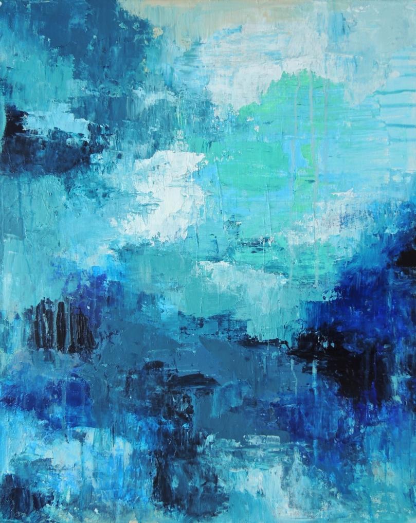 """Deep Blue"" 16x20"" canvas"