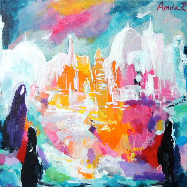 jumuah abstract painting by Amira Rahim