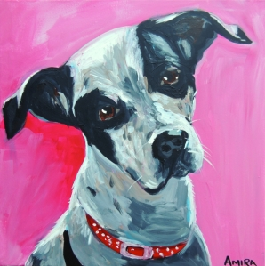 pet portrait commissioned painting by amira rahim